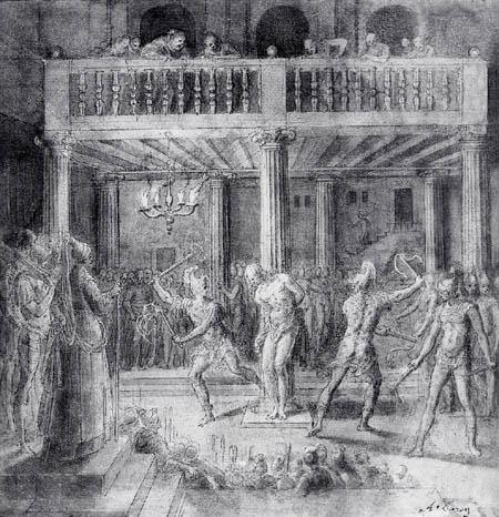 Antoine Caron - Die Geisselung
