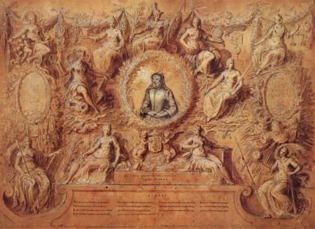 Antoine Caron - Katharina de Medici