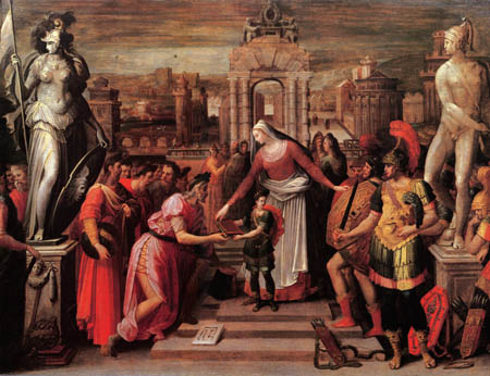 Antoine Caron - Die Übergabe von Buch und Schwert