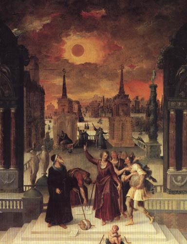 Antoine Caron - Astronomen beobachten eine Sonnenfinsternis