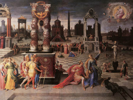 Antoine Caron - Der Kaiser Auguste und Sibylle von Tibur