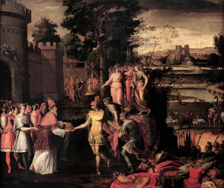 Antoine Caron - Abraham und Melchisedech