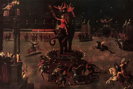 Antoine Caron - Das Elefantenkarussell