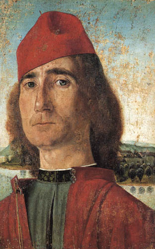 Vittore Carpaccio - Mann mit roter Mütze
