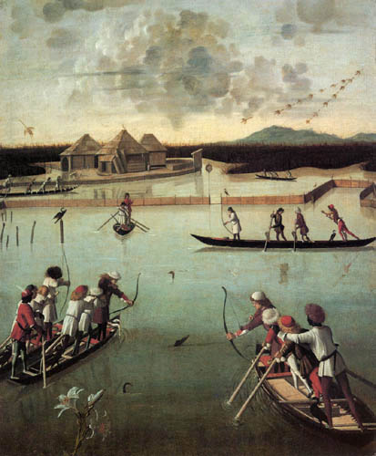 Vittore Carpaccio - Fishing with arrow and elbow