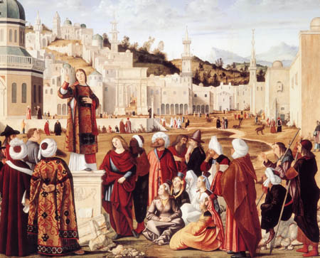 Vittore Carpaccio - Sermon of St. Stephen