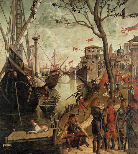 Vittore Carpaccio - The arrival of the St. Ursula in Cologne