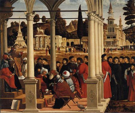 Vittore Carpaccio - Disputation des hl. Stephanus