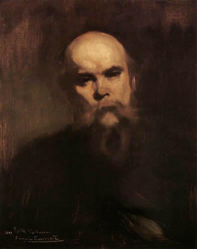 Eugène Carrière - Portrait of Paul Verlaine