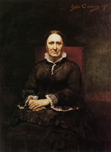 Eugène Carrière - Porträt der Mutter des Künstlers