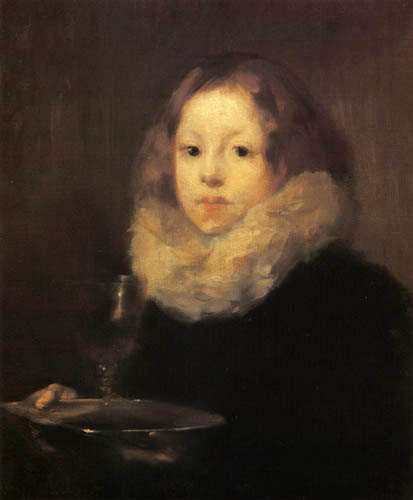 Eugène Carrière - Das Kind mit dem Glas