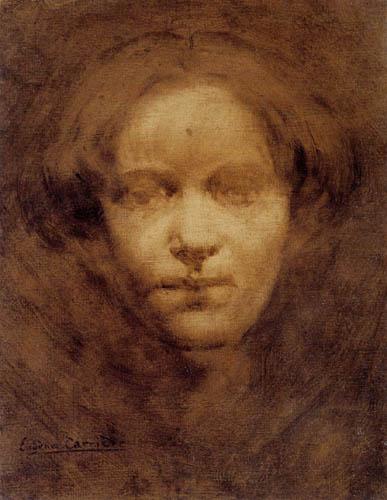 Eugène Carrière - Portrait of Nelly