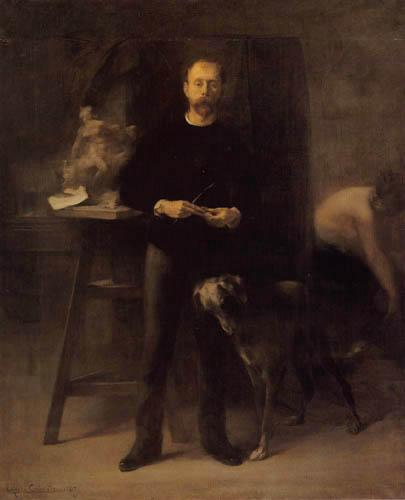 Eugène Carrière - Louis Devillez in the studio
