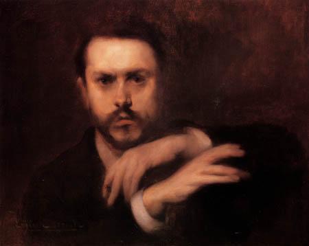 Eugène Carrière - Porträt des Gustave Geffroy