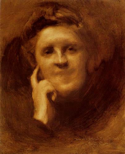 Eugène Carrière - Portrait of Jeanne Dolent