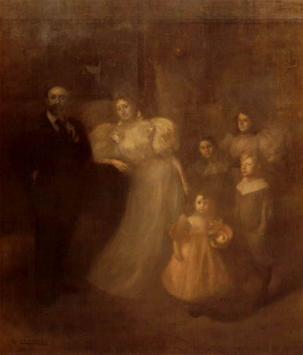 Eugène Carrière - Ernest Chausson and Family