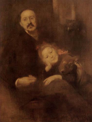 Eugène Carrière - Gabriel Seailles mit Tochter