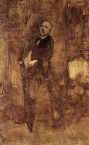 Eugène Carrière - Porträt des Georges Clemenceau