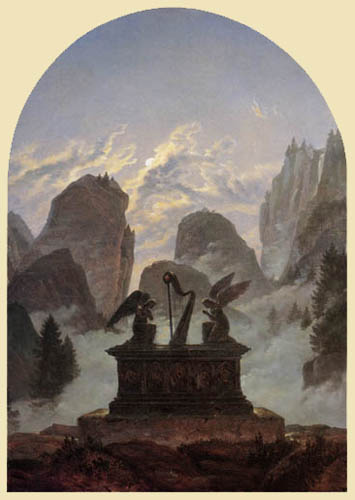 Carl Gustav Carus - The Goethe monument