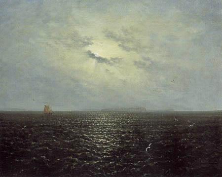 Carl Gustav Carus - Mondnacht bei Rügen