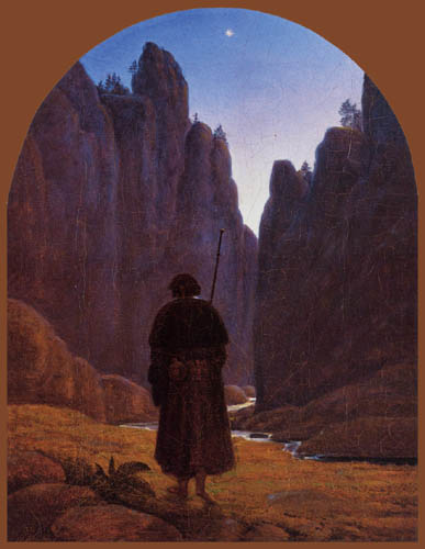 Carl Gustav Carus - A pilgrim in the rocky valley