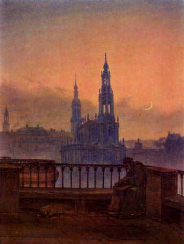 Carl Gustav Carus - Blick auf Dresden