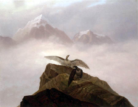 Carl Gustav Carus - Two eagles in the Alps