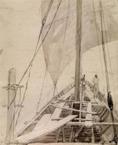 Carl Gustav Carus - An Bord eines Schiffes