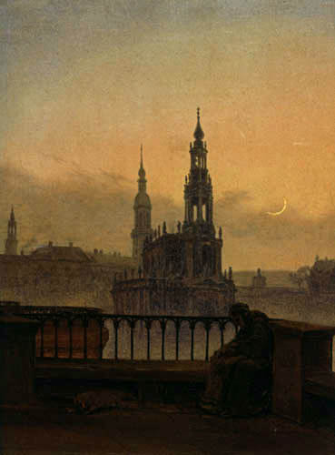 Carl Gustav Carus - Blick auf Dresden mit der Hofkirche und Schloss
