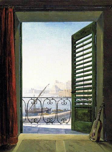 Carl Gustav Carus - Vue de Naples à partir du balcon de la chambre