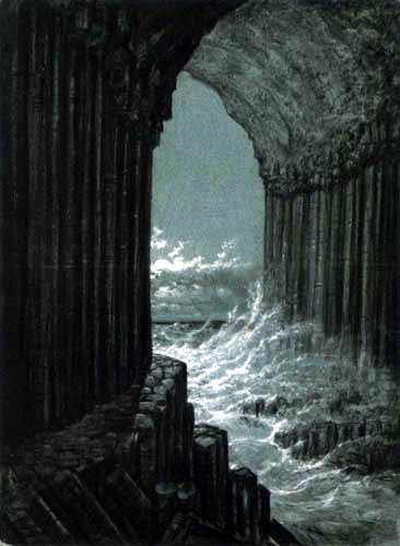 Carl Gustav Carus - View from the Fingal's Cave