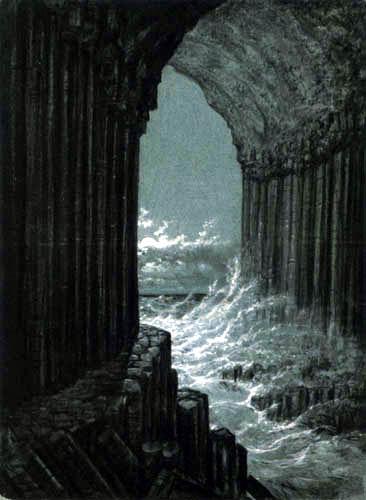 Carl Gustav Carus - Blick aus der Fingalshöhle