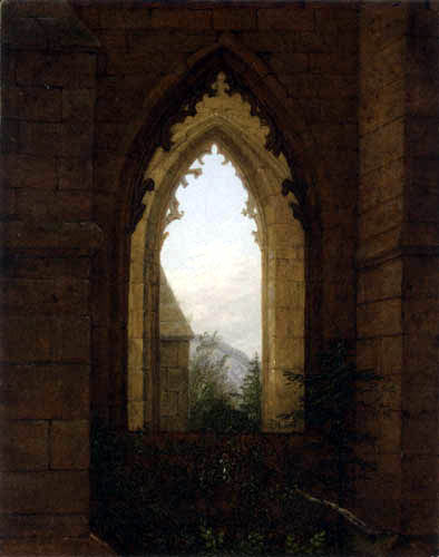 Carl Gustav Carus - View from the monastery church, Oybin