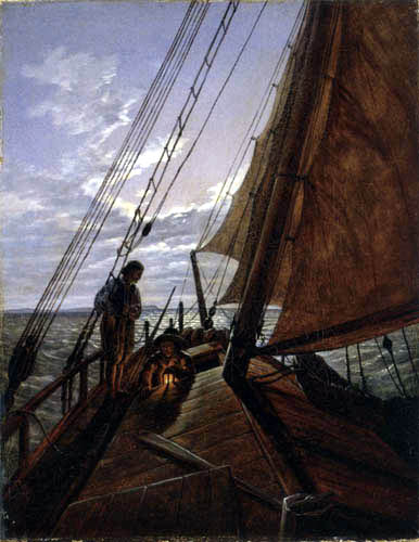 Carl Gustav Carus - Boat with two Sailors on the High Sea