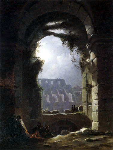 Carl Gustav Carus - Das Kolosseum bei Mondschein