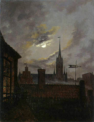 Carl Gustav Carus - View over rooftops
