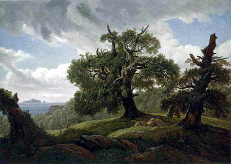 Carl Gustav Carus - Oaks at sea