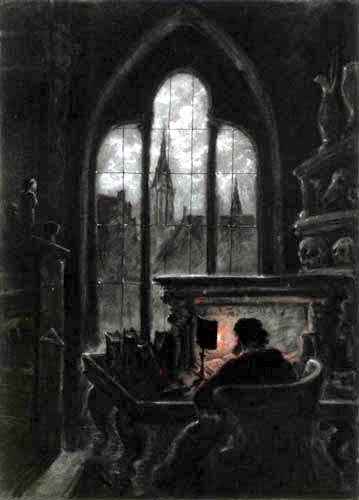 Carl Gustav Carus - Faust in his Study