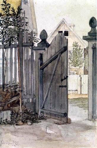 Carl Gustav Carus - Gartentor in Striesen