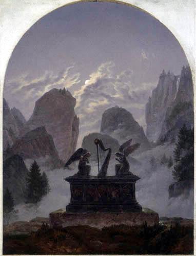 Carl Gustav Carus - The Goethe Monument