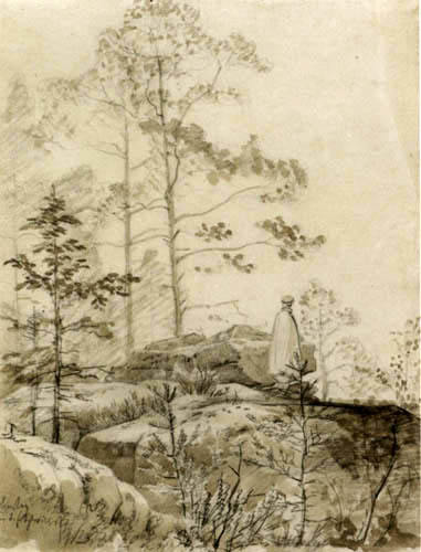 Carl Gustav Carus - Im Basteigebiet der sächsischen Schweiz