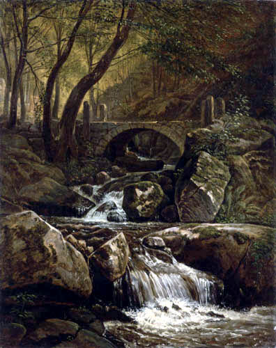 Carl Gustav Carus - Creek en Hosterwitz