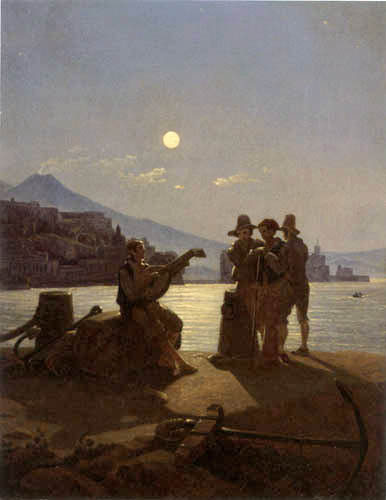 Carl Gustav Carus - Les pêcheurs italiens dans le port de Naples