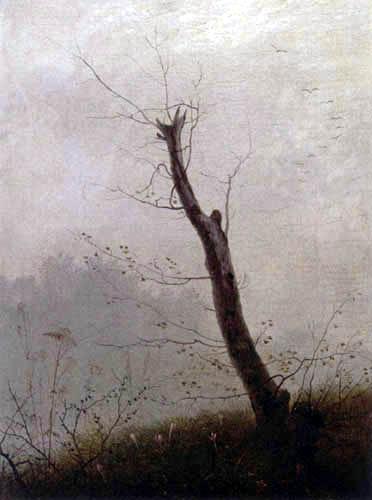 Carl Gustav Carus - Ein kahler Baum im Herbstnebel
