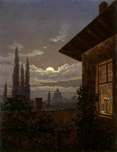 Carl Gustav Carus - St. Peter's in the moonlight, Rome