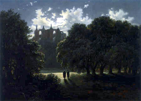 Carl Gustav Carus - A castle in the moonlight