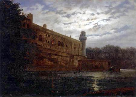 Carl Gustav Carus - Schloß Warwick am Avon bei Nacht