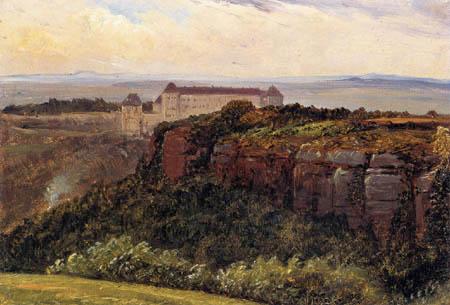 Carl Gustav Carus - Schloß Sonnenstein bei Pirna