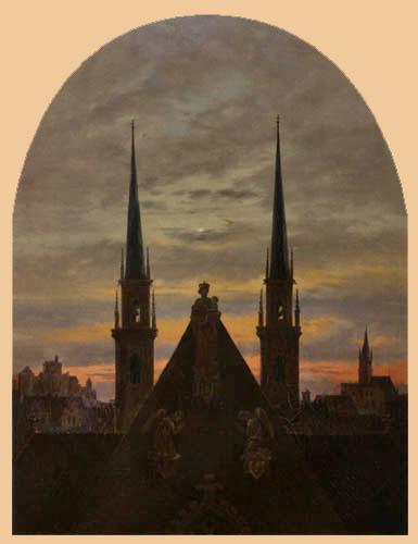 Carl Gustav Carus - City at dusk