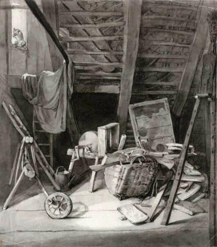 Carl Gustav Carus - Stilleben auf einem Dachboden